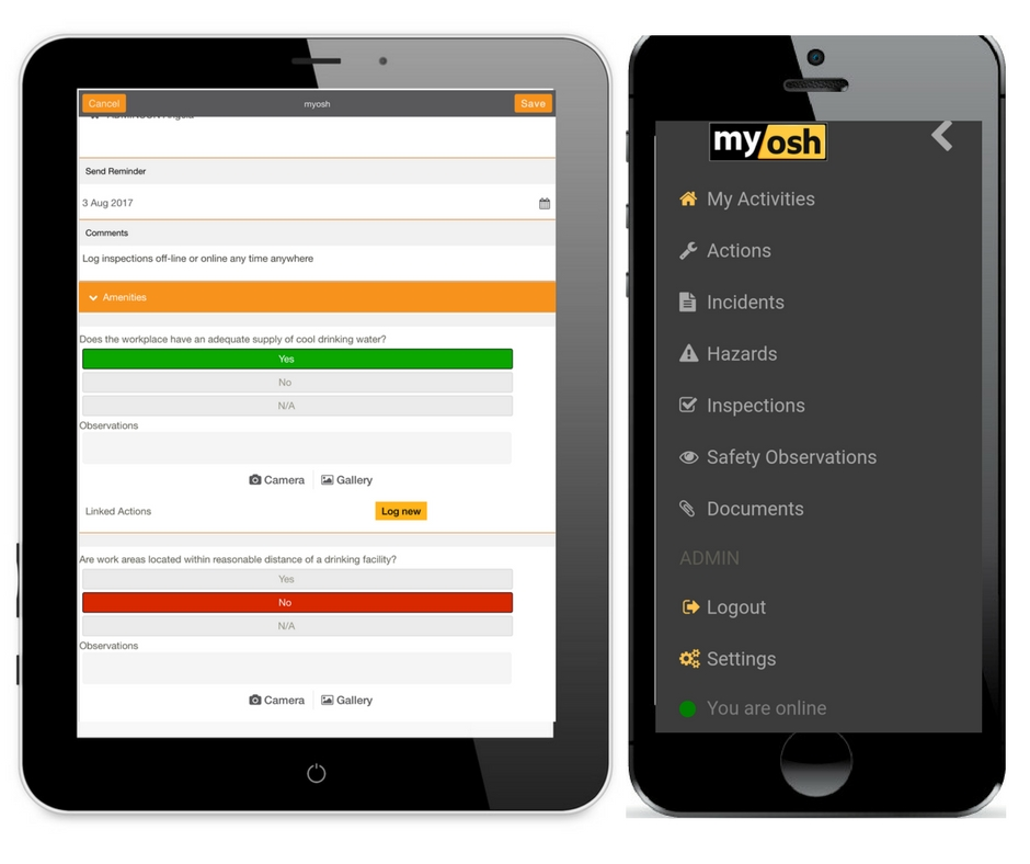 Work Faster with myosh Mobile