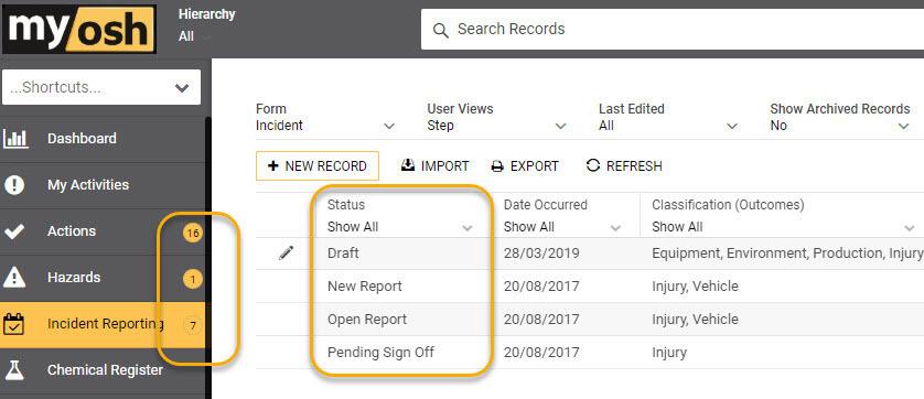 workflow status image screenshot